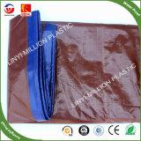 PE oleados, tenda, exterior à prova de material plástico de polietileno azul Tarp, tecido de HDPE