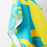 Printed Microfiber Hooded Kids Beach Towel