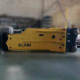 Silencia la roca de caja hidráulica tipo martillo cincel de 68 mm de diámetro para excavadora ZX55UR