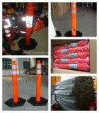 Reflexivo de la seguridad vial de advertencia de la carretera 110cm de la primavera para delineación Post