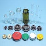 Het tubulaire Flesje van het Glas met Aluminium GLB