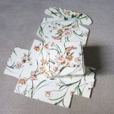 Het bloemen Verpakkende Vakje van de Gift van het Huwelijk van de Juwelen van de Ambachten van de Zeep van het Vakje van het Document Met de hand gemaakte