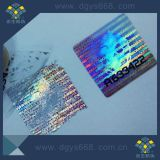 Escritura de la etiqueta de plata dañada fácil de encargo del holograma
