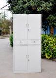 Altura total com duas gavetas portas batentes de metal do gabinete de enchimento de armazenamento de armário de escritório