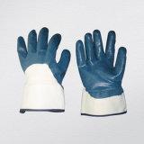 3/4 nitrile a enduit le gant ouvert de travail de nitriles de doublure de couplage en arrière