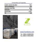 Fertilizante orgânico de Humizone de Leonardite: Pó de Humate do sódio