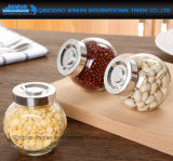 380ml Flat-Sided comida de vidro, Snack, doces, Canister picante