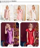 """Pijamas de seda Sy1030302 das mulheres """"sexy"""" do Nightwear da roupa de noite das senhoras da roupa interior"""