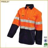 Vêtements de travail d'uniforme de personnel de sûreté de couleur de contraste de jupe de la marque réfléchissante de Salut-Force