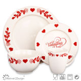 Merry Christmas Ceramic Stoneware Dinner Set
