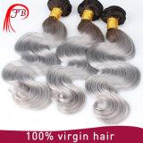 Het Indische Haar van Omber van het Menselijke Lichaam Zilveren Menselijke Maagdelijke