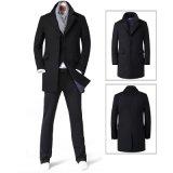 Couche de laine de remplissage long classique de l'hiver de la mode des hommes d'OEM