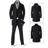 Form-klassisches Winter-langes Auffüllen-Woolen Mantel der Soem-Männer
