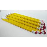 Crayon de couleur naturelle de la papeterie, corps de crayons HB avec la Gomme astuce