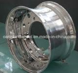 (22.5X8.25、9.00X22.5)造られたアルミニウムトラックの車輪、アルミニウム車輪の縁、合金の車輪、鋼鉄トラックの車輪