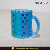 Glower all'ingrosso decorativo nella tazza di caffè di vetro scuro