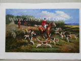 Escenas de caza de alta calidad pinturas de aceite para la decoración del hogar