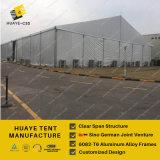 판매를 위한 주문을 받아서 만들어진 큰 알루미늄 PVC 산업 창고 저장 천막