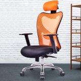 Présidence en cuir ergonomique de maille d'émerillon de gestionnaire de meubles de bureau
