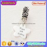 Il fiore elegante del braccialetto di fascino variopinto dei monili borda il fascino del metallo & il pendente #14605
