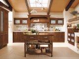 Gabinetes de cozinha Prefab modernos da mobília da madeira contínua feitos em China