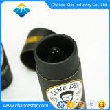 Custom estampado en oro negro de Aceite Esencial de tubo de papel Kraft