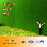 Искусственное украшение зеленого цвета стены травы, искусственная трава для украшения стены,