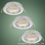 IP23 de aluminio ajustable Die-Cast MR16 GU10 halógenos LED Downlight empotrable de techo