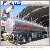 De lichte Semi Aanhangwagen van de Tank van de Legering van het Aluminium van het Gewicht van de Tarra voor Benzine/Benzine