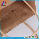 Sac de empaquetage blanc fait sur commande de papier de Brown emballage pour la nourriture