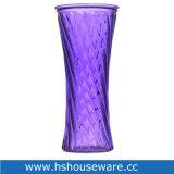 Vaso di vetro H30cm di stile diagonale