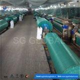 Tela lisa tecida PP verde da cor do fabricante de China