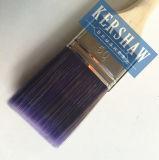 Pinceau (pinceau, brosse plate de purplefilament avec la poignée en bois molle)