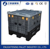 Scomparto di plastica pieghevole del pallet della Cina di capacità elevata grande con il coperchio