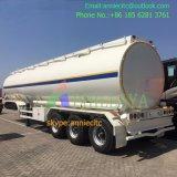 Tri-Axle 60m3 semi remolque de transporte de combustible del depósito de acero inoxidable