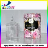 Por encargo de la fábrica de Shenzhen Perfume caja redonda de papel duro