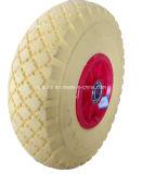 3.00-4 roda do carrinho de praia de roda livre de tela plana de 10 polegadas