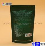 El papel de aluminio levantarse Zipper bolsas de embalaje de plástico utilizado en el Té Verde