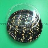 6 compartiment om het Bloemen Afgedrukte Beschikbare Plastic Dienblad van Sushi