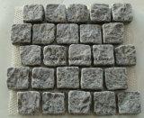 Pietra per lastricati del granito, pietra del ciottolo, pietra del lastricatore con la parte posteriore ingranata per la strada privata