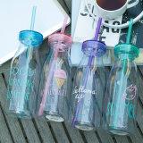550 мл небьющийся бутылка воды с помощью проводов колпака соломы