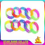 Wristband di gomma di fabbrica di prezzi del silicone all'ingrosso della treccia, braccialetto sveglio del silicone