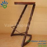 Directamente de fábrica fornecem cadeira da barra do assento de madeira sólida base metálica