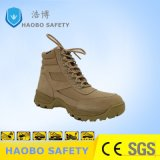 Precio barato Puntera Cuero auténtico desierto Ejército Militar Industrial impermeable Zapato de seguridad Trabajo