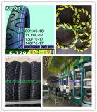 درّاجة ناريّة إطار العجلة مص إنتاج [هي برفورمنس] يقارن إطار العجلة مع [مرف] [دونلوب]