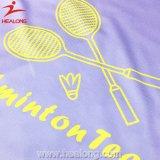 Kleding van het Badminton van de Sublimatie van de Sportkleding van het Ontwerp van Healong de Verse