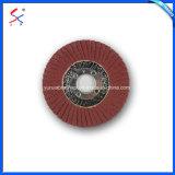 Disco de cor castanha com revestimento de fibra de vidro para polimento de metais
