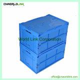 60L Fije el almacenamiento de las tapas de envases de plástico apilables moviendo la caja plegable