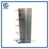 Kundenspezifische freie stehende MetallPegboard Standplatz-Bildschirmanzeige-Zahnstange