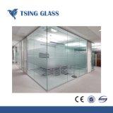 3-19mm verre trempé clair avec logo/trous/Edegs poli